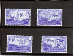 """M13 - NIUE 698 /701 ** MNH De 1999 - """" RESOLUTION """" DISCOVERY """" Captain JAMES COOK Découverte De NIUE. - Niue"""