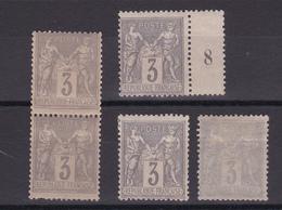 FRANCE/SAGE N° 87 NEUF CHARNIERE ET UN  SANS GOMME LE DERNIER TIMBRE - 1876-1898 Sage (Type II)