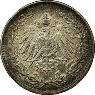 Monnaie, GERMANY - EMPIRE, 1/2 Mark, 1914, Hambourg, TTB+, Argent, KM:17 - [ 2] 1871-1918: Deutsches Kaiserreich