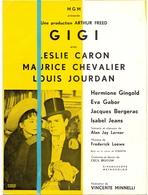 Ciné Cinema Bioscoop Pub Reclame Programma - MGM Film GIGI - Leslie Caron - Maurice Chevalier - Publicité Cinématographique