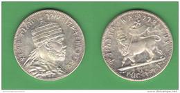 Ethiopia  Birr King Menelik Falso Fake Reproduction ***  Riproduzione - Gettoni E Medaglie