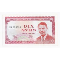 GUINEE - PICK 23 A - 10 SYLIS - 1980 - SUPERBE + - - Guinea