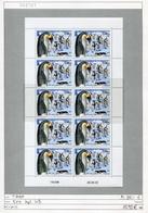 TAAF - Franz. Antarktis  - Michel 504 Im Kleinbogen / MF - ** Mnh Neuf Postfris - Blocs-feuillets