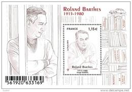 France BF N° F 5006 ** Critique Littéraire Et Sémiologue - Roland Barthès - Blocs & Feuillets