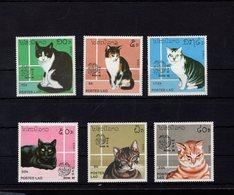 698261200 LAOS  POSTFRIS MINT NEVER HINGED POSTFRISCH EINWANDFREI  SCOTT 908 914 CATS INDIA 89 EXPOSITION PHILATELIQUE - Laos