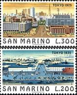 San Marino 1975 Serie Città Famose Tokio - Nuovi