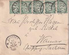 PAYS-BAS 1903 LETTRE DE ZUTPHEN POUR WEIMAR - Periode 1891-1948 (Wilhelmina)
