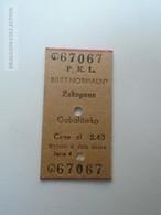 ZA153.16  POLAND  ZAKOPANE  -Gubalówka - Edmondson Railway Ticket - Transportation Tickets