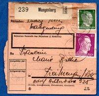 Colis Postal  - Départ Wangenburg  -  12/11/1942 - Allemagne