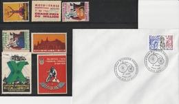 VELO CYCLES - VELO- MOTOS 1928/1929/1931/1935 - SAINT ETIENNE..+ FDC MICHAUX. - Erinnophilie