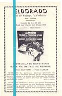 Ciné Cinema Bioscoop Pub Reclame Film Programma - Eldorado Gent - L' Amour 1958 - Publicité Cinématographique