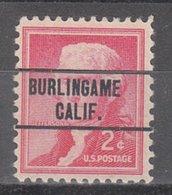 USA Precancel Vorausentwertung Preo, Locals California, Burlingame 263 - Etats-Unis