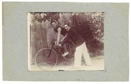 Photo Ancienne Hommes, Vélo De Course - Sports