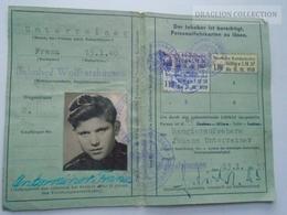 ZA153.19   Germany 1957 Deutsche Bundesbahn - Personenausweis - Railway ID -Bahnhof Wolfratshausen - Transportation Tickets