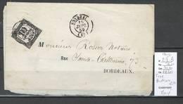 France - Lettre Taxée De Bordeaux -1859 - Maury- 2-II - B - Margé - 1849-1876: Période Classique