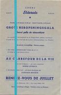 Ciné Cinema Bioscoop Pub Reclame Film Programma - Eldorado Gent - Heropeningsgala - +- 1950 - Publicité Cinématographique