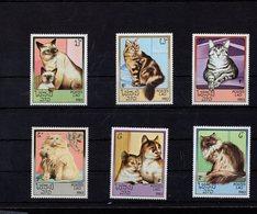 698268172 LAOS  POSTFRIS MINT NEVER HINGED POSTFRISCH EINWANDFREI  SCOTT  493 498 DOMESTIC CATS - Laos