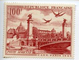 LOT DE 2 TIMBRES FRANCE N°28 ET 29 100 ET 1000 FRANCS POSTE AERIENNE NEUF* - France