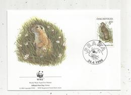 Lettre , 1 Er Jour,official First Day Cover , WWF , TCHEQUIE , Ceska Republika , Praha, 1996, Spermophilus Cittelus - FDC