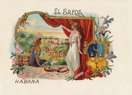 Grande étiquette Boite à Cigare Havane EL SAFOS - Etiquettes
