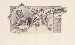 Grande étiquette Boite à Cigare Havane LE LION BLANC - Etiquettes