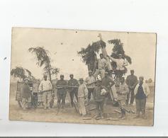 CHANTEHEUX (54) CARTE PHOTO AVEC MILITAIRES FRANCAIS ET OLYMPE MITRAILLEUSE A  TAUBES (AVIONS ALLEMANDS) 1915 - Francia