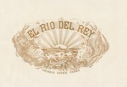 Grande étiquette Boite à Cigare Havane EL RIO DEL REY - Etiquettes
