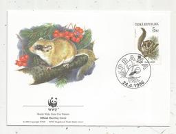 Lettre , 1 Er Jour,official First Day Cover , WWF , TCHEQUIE , Ceska Republika , Praha , 1996, Dryomus Nitedula - FDC