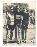 Photo Ancienne Hommes, Cyclistes, Vélo De Course - Sports