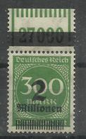 """Deutsches Reich 310A  OPD C WOR """" Briefmarke. Lokalausg. Mit Walzendruckoberrand (WZ Waffeln) """" Postfr. Mi.:6,00 - Allemagne"""