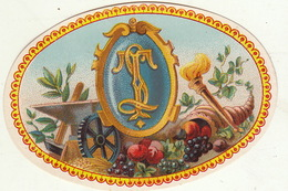 Fin 1800 étiquette Boite à Cigare Havane Tinchant Anvers - Etiquettes