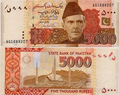 PAKISTAN        5000 Rupees        P-51i       2016        UNC  [sign. Ashraf M. Wathra] - Pakistan