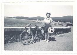 """Photo Ancienne Femme & Son Vélo, Tandem, Sainte-Maxime ( Rosy Et Son """"cheval"""" ) - Sports"""