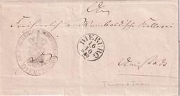 THURN UND TAXIS 1850 LETTRE DE DIEBURG - Tour Et Taxis