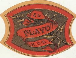 Fin 1800 étiquette Boite à Cigare Havane El Flavo - Etiquettes