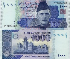 PAKISTAN        1000 Rupees        P-50g       2012       UNC  [sign. Yaseen Anwar] - Pakistán