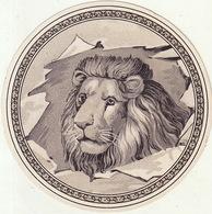 Fin 1800 étiquette Boite à Cigare Lion Blanc - Etiquettes