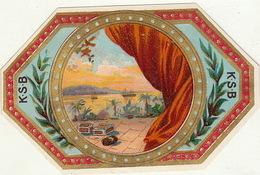 Fin 1800 étiquette Boite à Cigare El Safos - Etiquettes