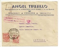Historia Postal España  Andalucia  Carta  Córdoba-Sevilla  1937  NL1219 - 1931-Hoy: 2ª República - ... Juan Carlos I