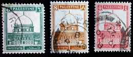 1927 Palestine Mi 54, 57, 60. Dome Of The Rock . Oblitérés - Palestine