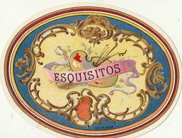Fin 1800 étiquette Boite à Cigare Exquisitos - Etiquettes