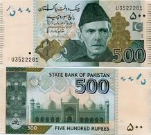 PAKISTAN        500 Rupees        P-49Ab       2010       UNC  [sign. Shahid Kardar] - Pakistan