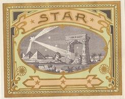 Fin 1800 étiquette Boite à Cigare Nos Artistes Star - Etiquettes