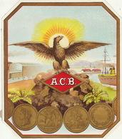 Fin 1800 étiquette Boite à Cigare Nos Artistes A.C.B. - Etiquettes