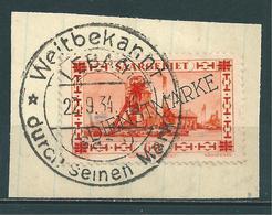 Saar MiNr. D 29 Vollstempel: LEBACH  (0466) - 1920-35 Saargebiet – Abstimmungsgebiet