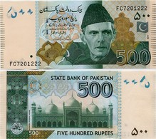 PAKISTAN        500 Rupees        P-49Ai       2017       UNC  [sign. Ashraf M. Wathra] - Pakistán