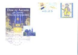 Deutschland GS '40 J. Aachener Dom UNESCO-Welterbe' / Germany PSE 'Aachen Cathedral UNESCO World Heritage' **/MNH 2018 - Chiese E Cattedrali
