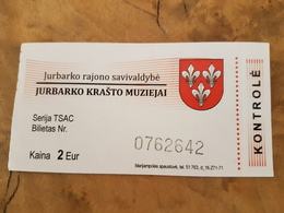 Lithuania Museum Ticket Jurbarkas Museum - Tickets D'entrée