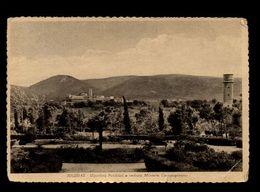 C244 IGLESIAS  - GIARDINI PUBBLICI E VEDUTA MINIERA CAMPOPISANO B\N VG 1954 - Iglesias