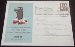 "Schweiz Suisse 1941: MUBA-PK Mit Passendem O ""Schweizer Mustermesse1916-1941BASEL 22.IV.41 AUTOMOBIL-POSTBUREAU - Interi Postali"